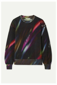 Aries - Aurora Printed Cotton-jersey Sweatshirt - Black