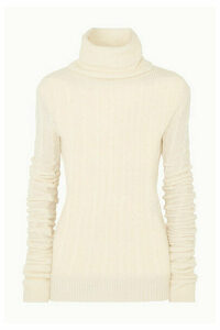 Jacquemus - Sofia Cable-knit Alpaca-blend Turtleneck Sweater - White