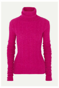 Jacquemus - Sofia Cable-knit Alpaca-blend Turtleneck Sweater - Fuchsia