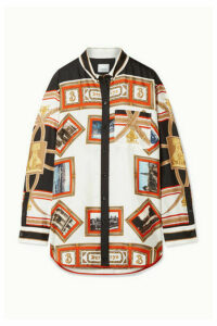 Burberry - Printed Silk-twill Blouse - White