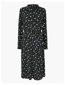 M&S Collection Polka Dot Waisted Midi Dress
