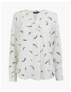 M&S Collection Dash Print Blouse