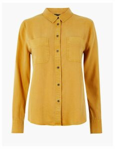M&S Collection Button Detailed Patch Pocket Shirt