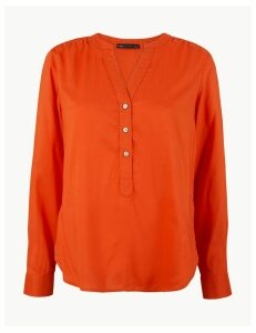 M&S Collection Button Detail Blouse