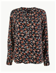 M&S Collection Ditsy Floral Popover Blouse