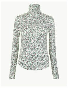 Per Una Floral Turtle Neck Top