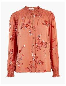 Per Una Floral High Neck Blouse