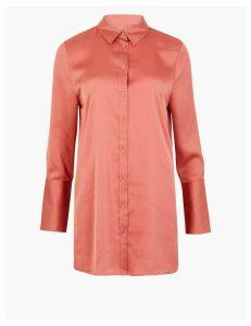 M&S Collection Satin Longline Shirt