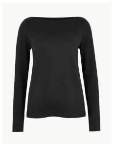 M&S Collection Slash Neck Sweatshirt