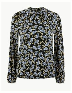 M&S Collection Paisley Print Long Sleeve Top