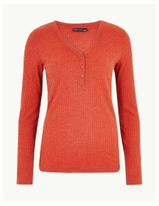 M&S Collection Long Sleeve Fitted Top
