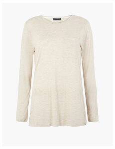 M&S Collection Relaxed Fit Longline Long Sleeve Top