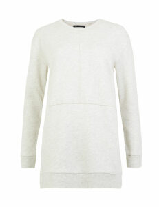 M&S Collection Cotton Rich Longline Sweatshirt