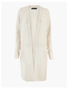 Autograph Wool Rich Longline Cardigan with Cashmere