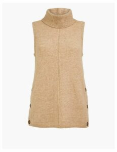 Autograph Wool Blend Sleeveless Jumper