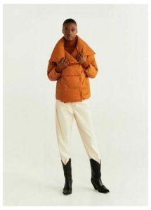 Water-repellent quilted coat