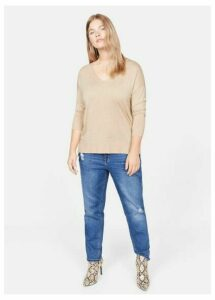 Side buttoned sweater