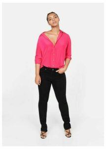 Satin buttoned shirt