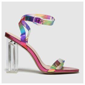 Public Desire Pink & Gold Alia High Heels