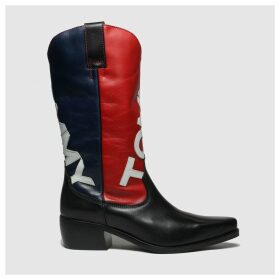 Tommy Hilfiger Navy Heritage Cowboy Boots