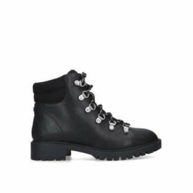 Miss Kg Hockley - Black Lace Up Hiker Boots