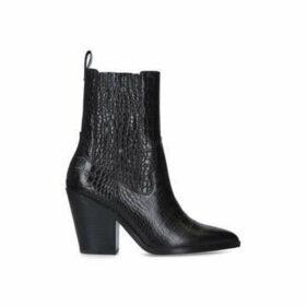 Aldo Drerissa - Black Croc Print Block Heel Ankle Boots