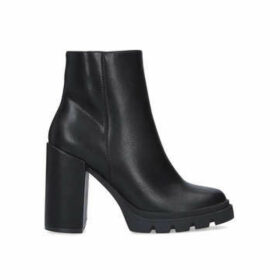Steve Madden Vintage - Black Block Heel Chunky Ankle Boots