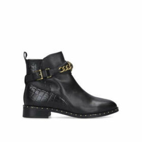 Kurt Geiger London Chelsea Jodhpur - Black Ankle Boots With Chain Detail