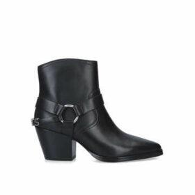 Michael Michael Kors Goldie Bootie - Black Block Heel Ankle Boots