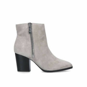 Nine West Niomi - Grey Block Heel Ankle Boots