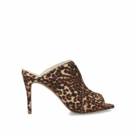 Vince Camuto Coraline - Leopard Print Stiletto Heel Backless Sandals
