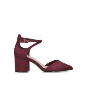 Aldo Brookshear - Dark Red Block Heel Court Shoes