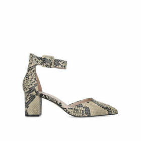 Kurt Geiger London Burlington - Snake Print Block Heel Court Shoes