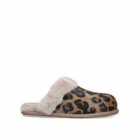 Ugg Scuffette Ii - Leopard Print Suede Slippers