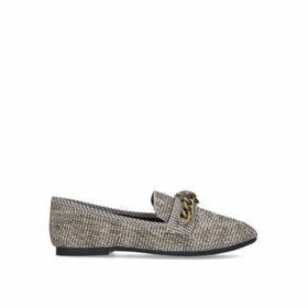 Kurt Geiger London Chelsea Loafer - Tweed Eagle Embellished Loafers