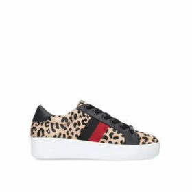 Steve Madden Belle - Leopard Print Lace Up Trainers