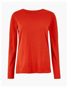M&S Collection Pure Cotton Straight Fit Top