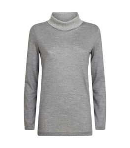 Lurex Collar Rollneck Sweater