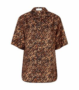 Tiger Print Silk Shirt