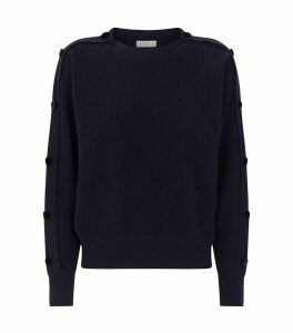 Scalloped Wool Sweater
