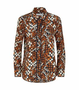 Leema Silk Geometric Shirt
