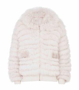 Fox Fur Reversible Cardigan