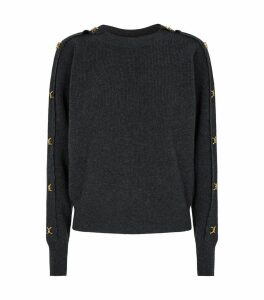 Wool-Cashmere Embellished Sweater