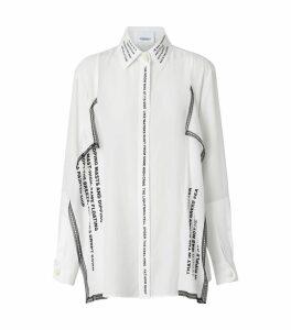 Mariner Print Silk Oversized Shirt