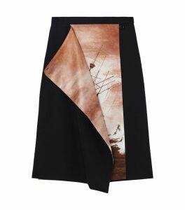 Ship Print Pencil Skirt