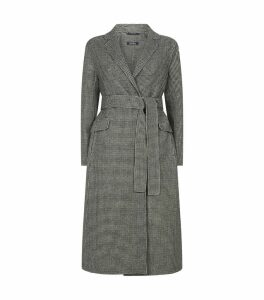 Houndstooth Double-Face Wool Coat