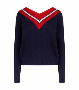 StripedTrim Sweater