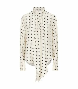 Silk Polka Dot Beverly Blouse