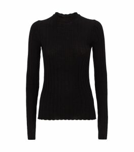 Kent Ribbed Mockneck Wool Sweater
