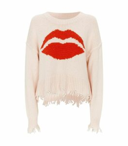 Kiss Print Cotton Sweater